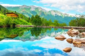 Gli Alti Tatra della Polonia al confine con la Slovacchia